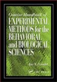 Concise Handbook of Experimental Methods for the Behavioral and Biological Sciences, Gould, Jay E., 0849311047