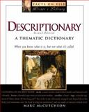 Descriptionary : A Thematic Dictionary, McCutcheon, Marc, 0816041067