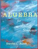 Algebra for College Students, Auvil, Daniel L., 0070031061