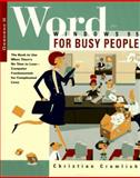 Word for Windows 95 for Busy People, Crumlish, Christian, 0078821096
