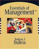 Essentials of Management, DuBrin, Andrew J., 0324321104