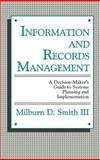 Information and Records Management, Milburn D. Smith, 0899301118