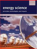 Energy Science 9780199281121