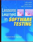 Lessons Learned in Software Testing 1st Edition