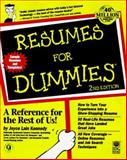 Resumes for Dummies 9780764551130