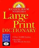 Random House Webster's Large Print Dictionary, RH Disney Staff, 0375401148