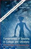 Fundamentals for Teaching in College and University, David Bryden, 1844011151