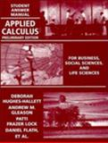 Applied Calculus, Hughes-Hallett, Deborah, 0471111163