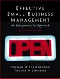 Effective Small Business Management : A Entrepreneurial Approach, Scarborough, Norman M. and Zimmerer, Thomas W., 0130081167