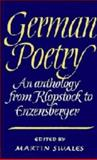 German Poetry : An Anthology from Klopstock to Enzenberger, , 0521321166