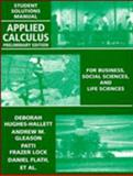 Applied Calculus, Hughes-Hallett, Deborah, 0471111171