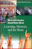 What Every Teacher Should Know about Learning, Memory, and the Brain, Tileston, Donna Walker, 0761931198
