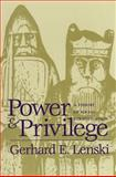 Power and Privilege, Gerhard E. Lenski, 0807841196