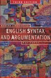 English Syntax and Argumentation, Aarts, Bas, 0230551211