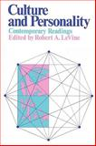 Culture and Personality : Contemporary Readings, , 0202011224