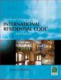Significant Changes to the International Residential Code 2009, Van Note, Steve, 1435401220