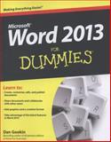 Word 2013 for Dummies, Dan Gookin, 1118491238