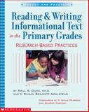 Reading and Writing Informational Text in the Primary Grades 9780439531238