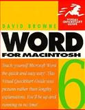 Word 6 for Macintosh : Visual QuickStart Guide, Browne, David, 156609125X