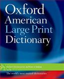 Oxford American Large Print Dictionary, , 0195371259