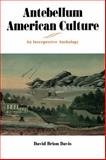 Antebellum American Culture : An Interpretive Anthology, Davis, David Brion, 0271031255