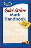 Quick Review Math Handbook Book 2 : Hot Words, Hot Topics, McGraw-Hill, 0078601266