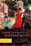 Norton Anthology of Western Music, Burkholder, J. Peter and Palisca, Claude V., 0393931277