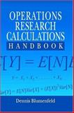 Operations Research Calculations Handbook, Blumenfeld, Dennis, 0849321271
