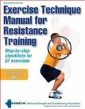 Exercise Technique Manual for Resistance Training, National Strength and Conditioning Association Staff, 073607127X