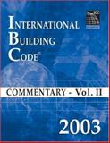 International Building Code Commentary 2003 9781580011280