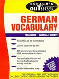 Schaum's Outline of German Vocabulary, Weiss, Edda, 0070691282