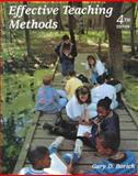 Effective Teaching Methods, Borich, Gary D., 0139361308