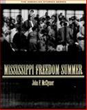 Mississippi Freedom Summer, McClymer, John F., 0534621317