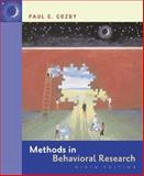 Methods in Behavioral Research with PowerWeb, Cozby, Paul C., 0073271314