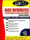 Schaum's Outline of Basic Mathematics with Applications to Science and Technology, Kruglak, Haym and Moore, John T., 0070371326