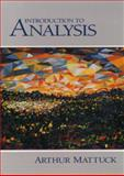 Introduction to Analysis, Mattuck, Arthur, 0130811327