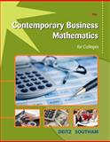 Contemporary Business Mathematics for Colleges (with CD-ROM), Deitz, James E. and Southam, James L., 1111821321