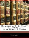 Un Mensonge de la Science Allemande, Victor Brard and Victor Bérard, 1145751334