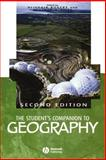 The Student's Companion to Geography, , 0631221336