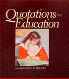 Quotations on Education, Maggio, Rosalie, 0137691343