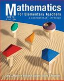 Mathematics for Elementary Teachers : A Contemporary Approach, Musser, Gary L. and Peterson, Blake E., 0470531347