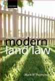 Modern Land Law, Thompson, Mark P., 0199641374