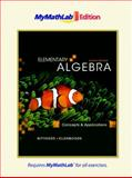 Elementary Algebra : Concepts and Applications, the MyMathLab Edition, Bittinger, Marvin L. and Ellenbogen, David J., 0321641388