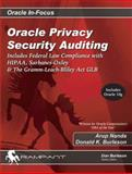 Oracle Privacy Security Auditing, Donald K. Burleson, 0972751394