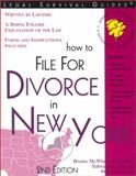 How to File for Divorce in New York, Brette McWhorter Sember and Edward A. Haman, 1572481412
