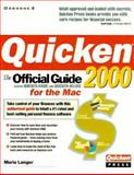 Quicken 2000 for the Mac, Maria Langer, 0072121416