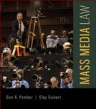 Mass Media Law, Pember, Don and Calvert, Clay, 0077861426