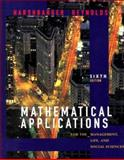 Mathematical Applications for the Management, Life, and Social Sciences, Harshbarger, Ronald J. and Reynolds, James J., 0395961424