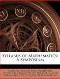 Syllabus of Mathematics, , 1146291426
