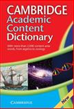 Academic Content Dictionary, , 0521871433